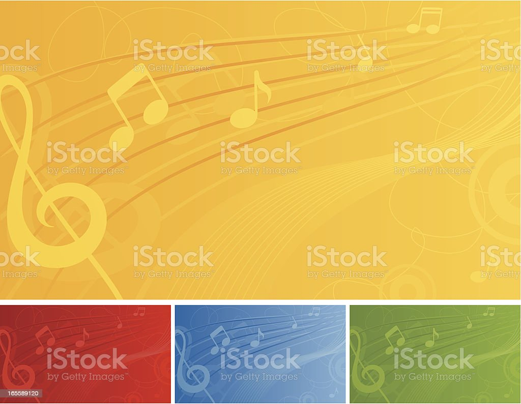 Musical Backing - incl. jpeg royalty-free stock vector art