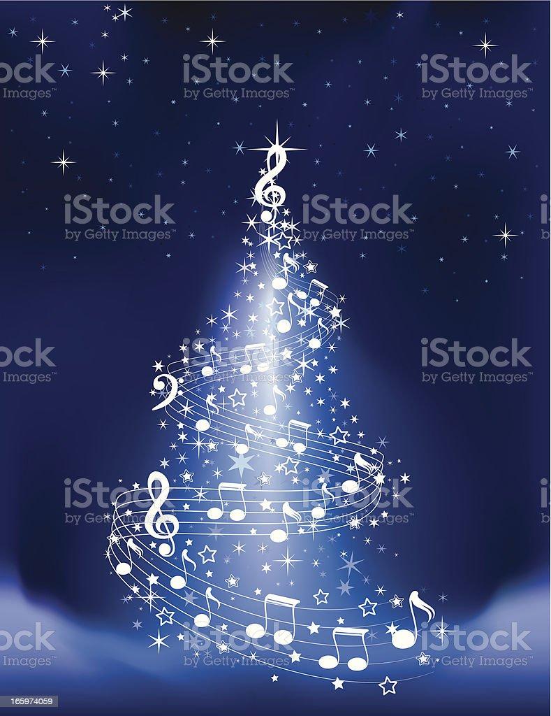 Musical Christmas Tree royalty-free stock vector art