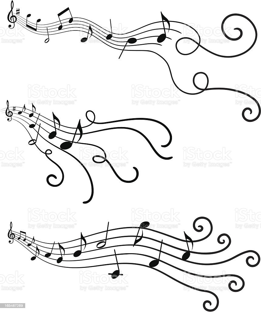 Musical design elements 4 royalty-free stock vector art
