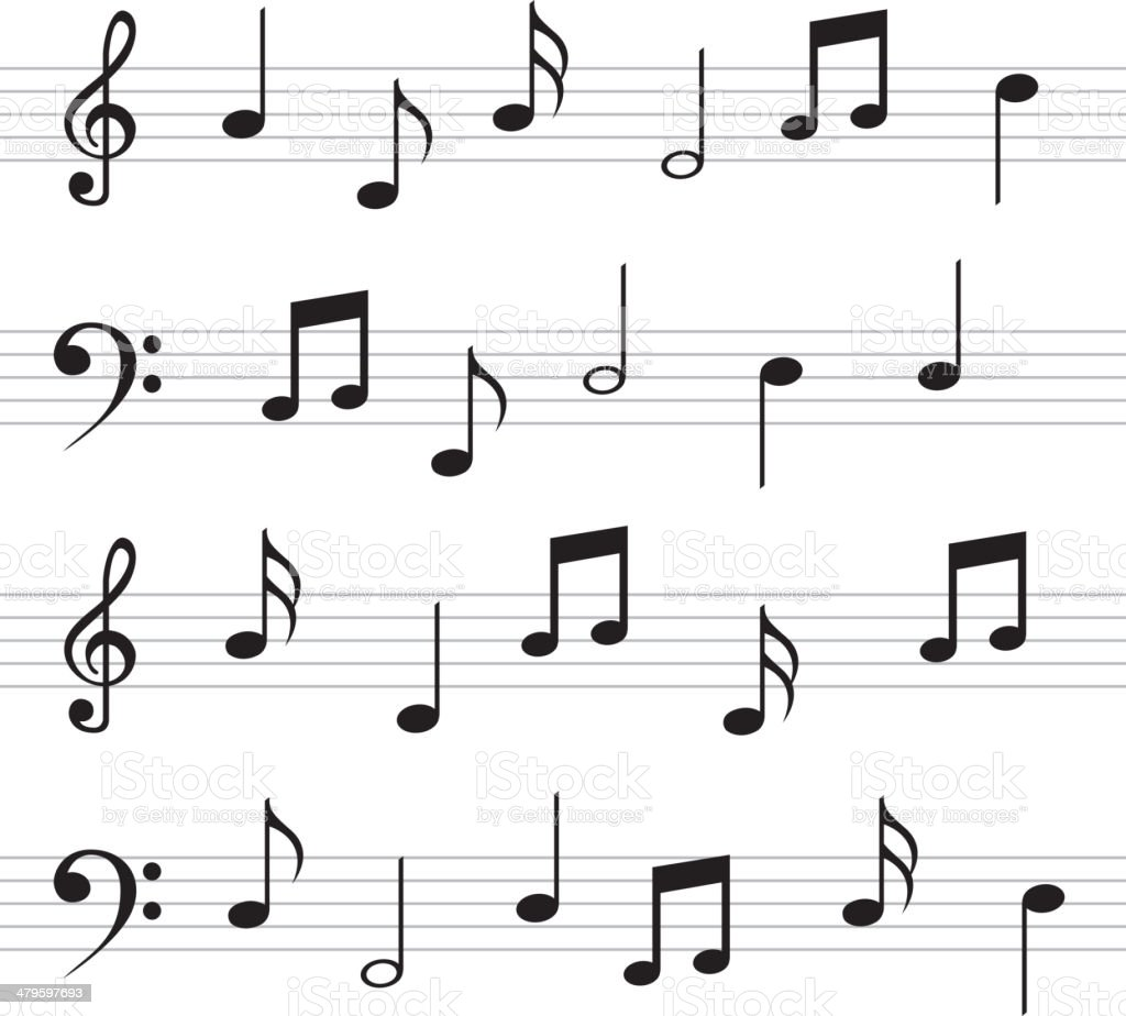 Musical Design vector art illustration