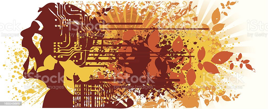 Musical electro grunge royalty-free stock vector art