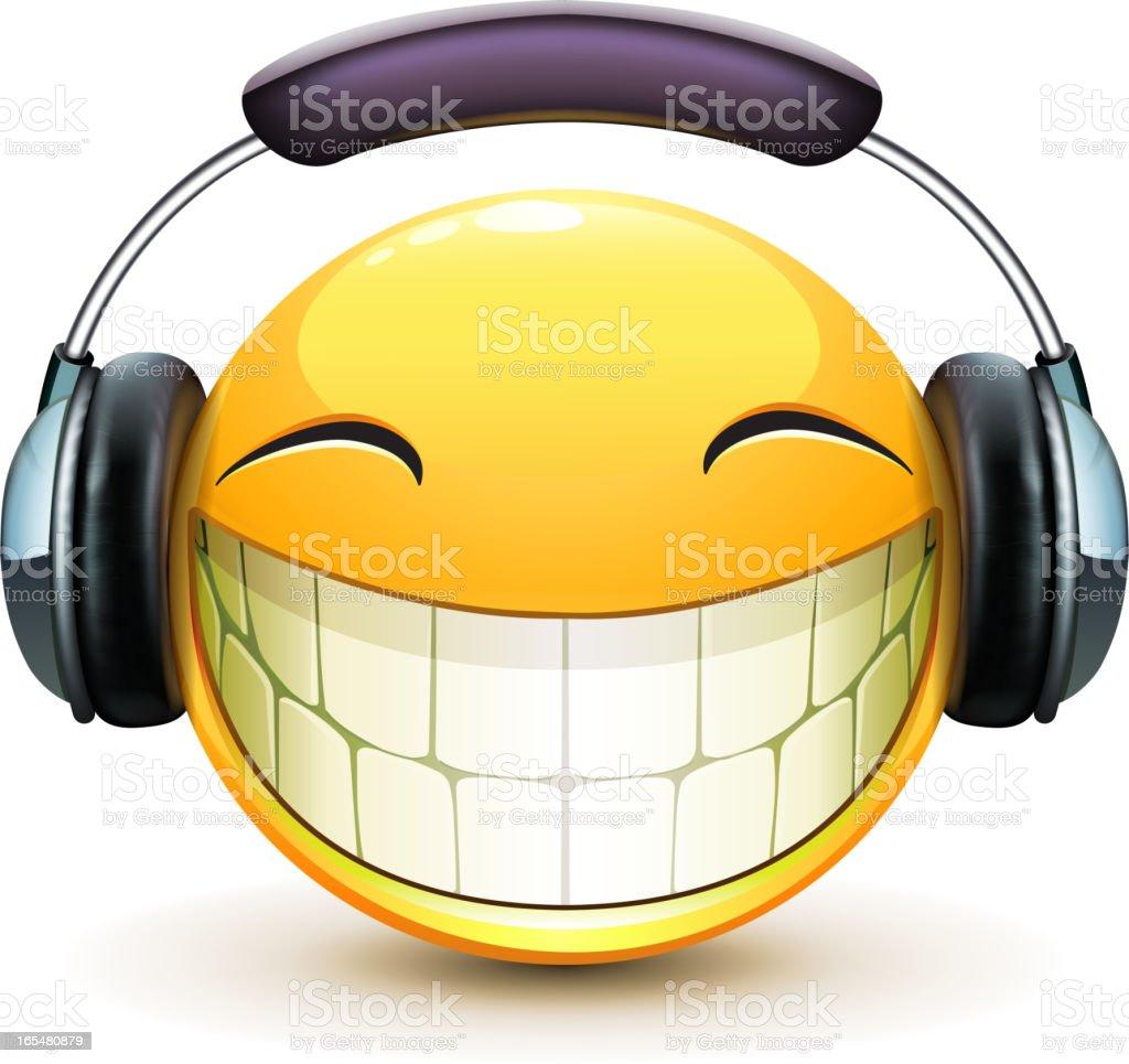 musical emoticon royalty-free stock vector art