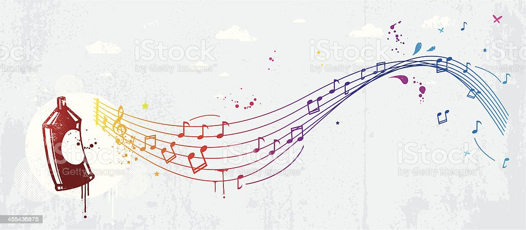 Musical graffiti royalty-free stock vector art