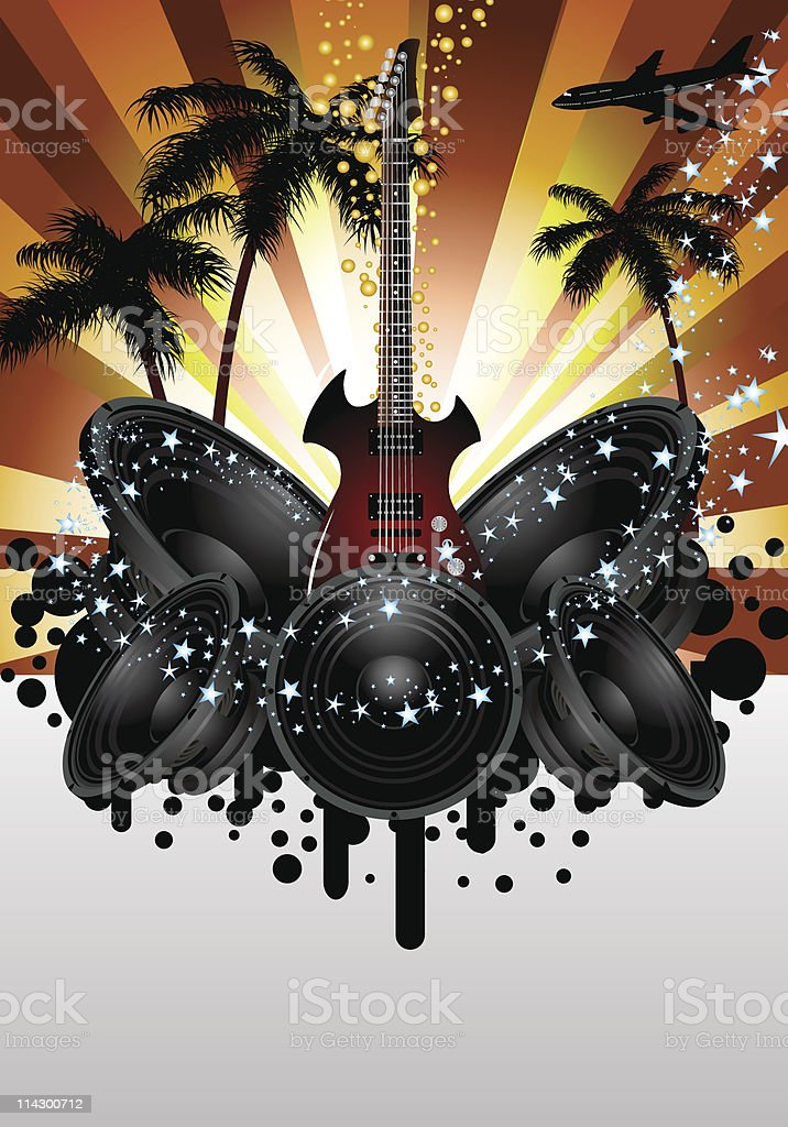 Musical grunge background royalty-free stock vector art