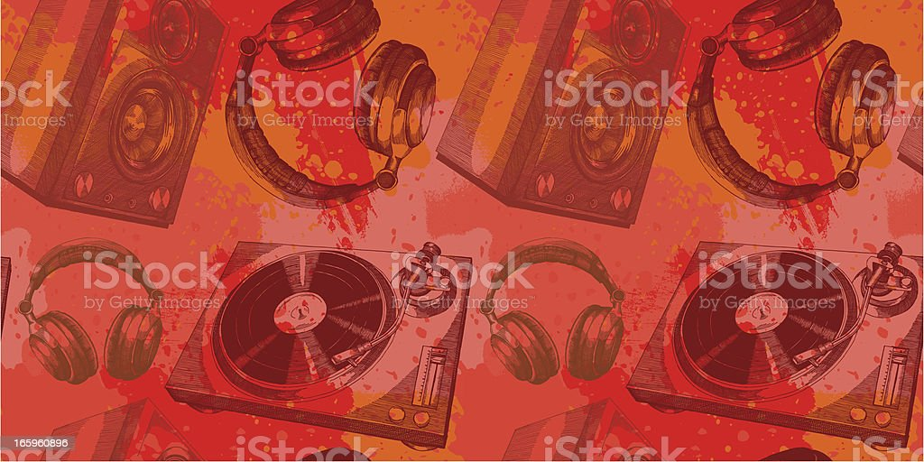 Musical Grunge Design vector art illustration