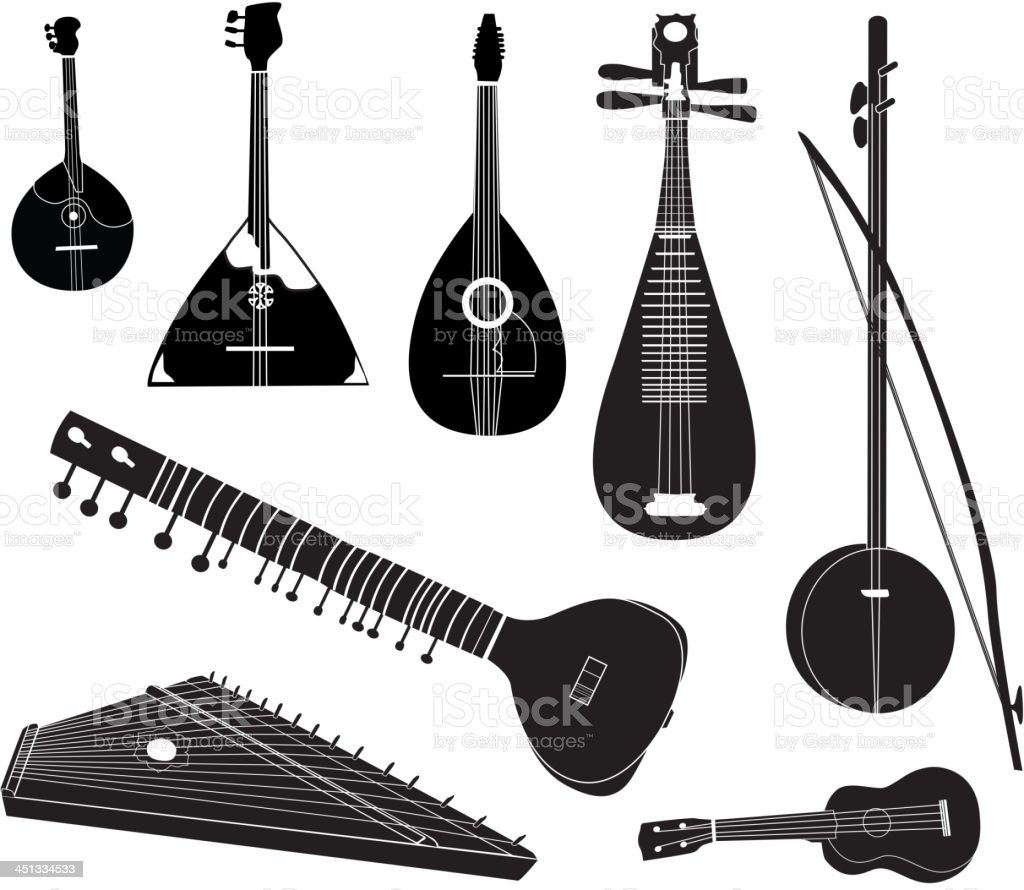 Musical Instruments Of Different Cultures Collection stock vector ...