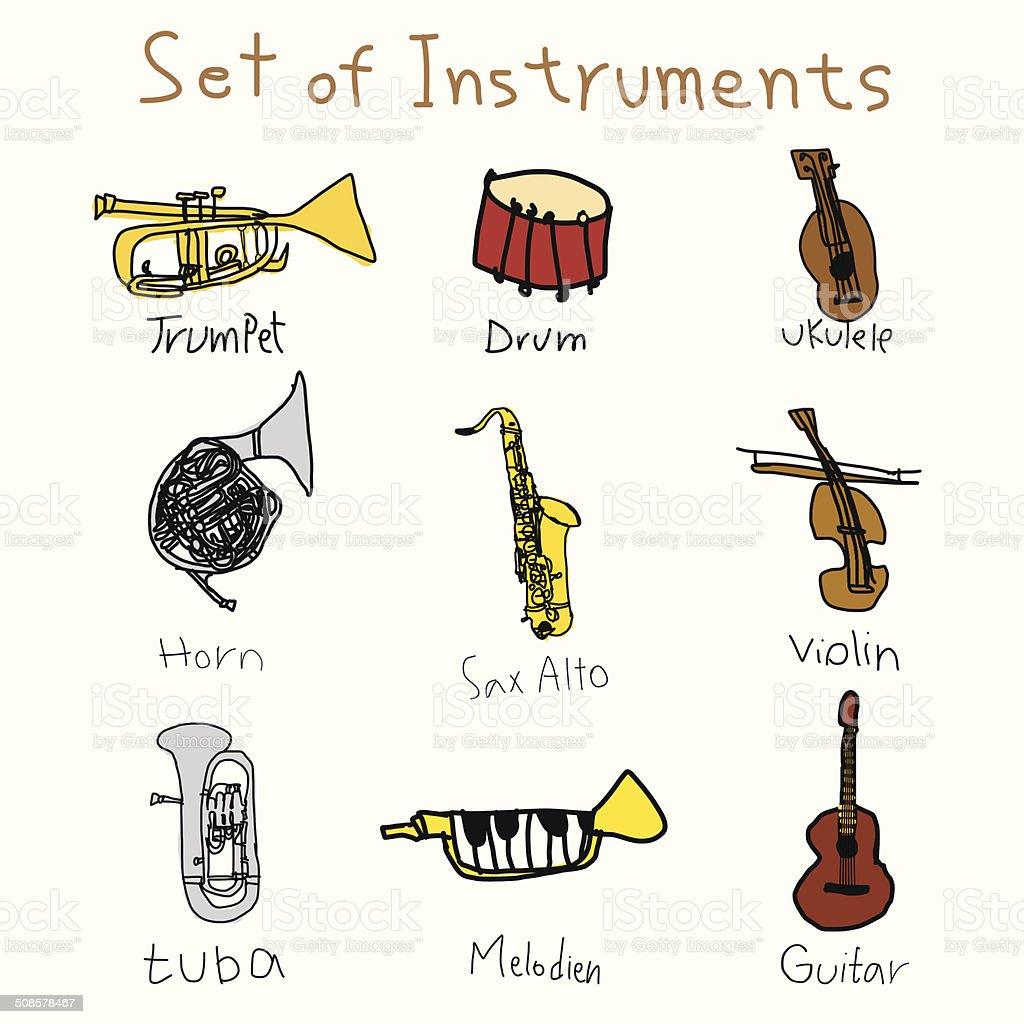musical instruments, vector royalty-free stock vector art