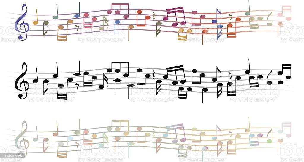 Musical lines vector art illustration