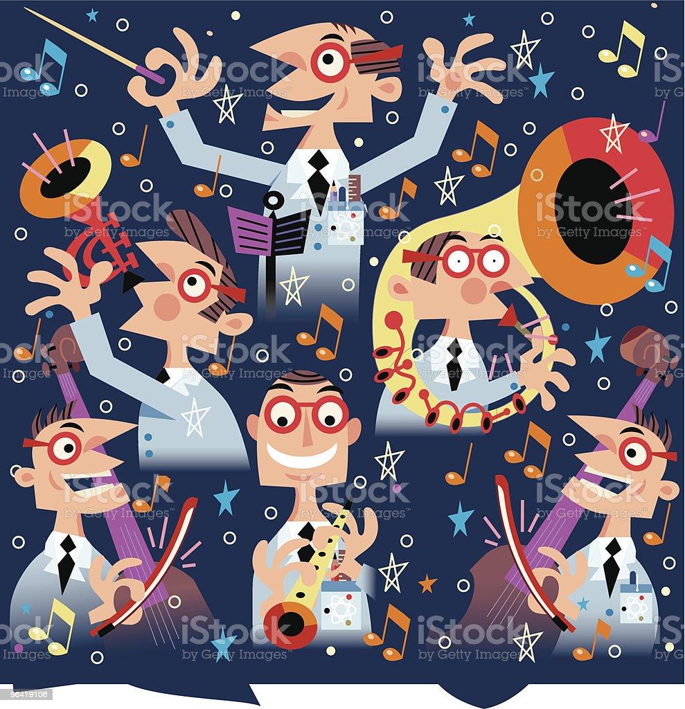 Musical Mayhem vector art illustration