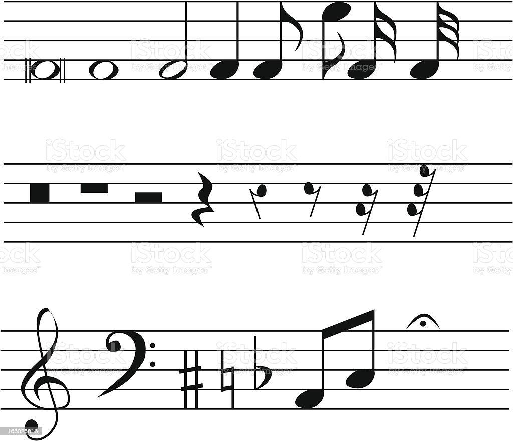Musical Notation (vector & jpeg) vector art illustration