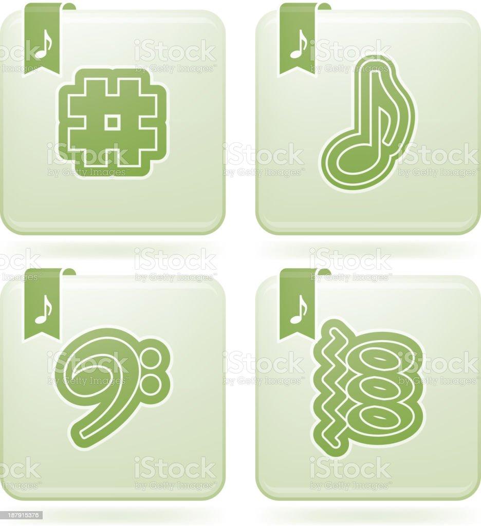 Musical notation royalty-free stock vector art