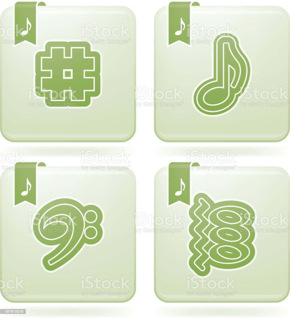 Musical notation vector art illustration