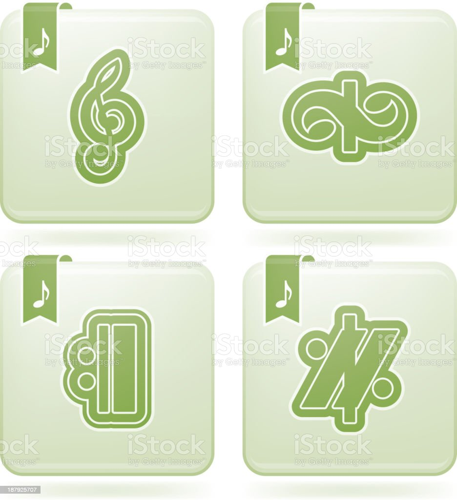 Musical notation royalty-free stock vector art