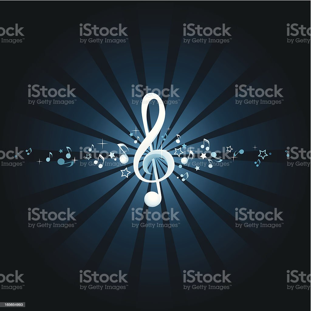 Musical note background royalty-free stock vector art