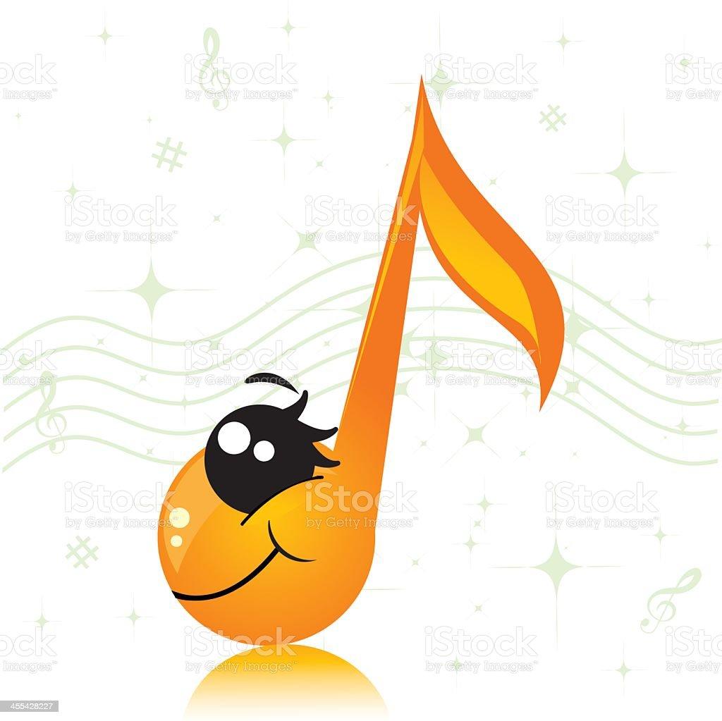 note de musique de caractère stock vecteur libres de droits libre de droits