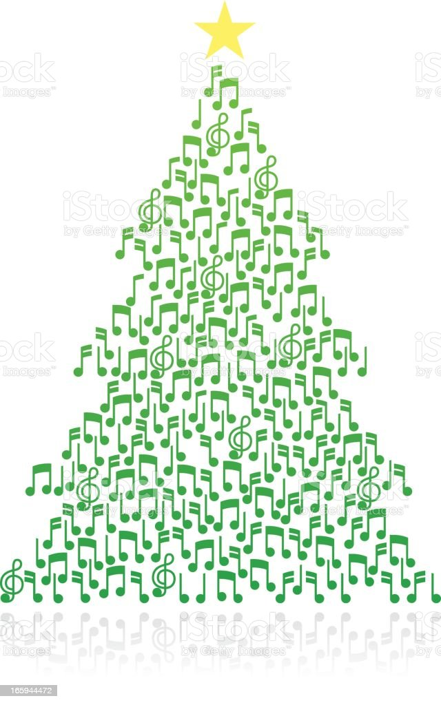 Musical note Christmas Tree royalty-free stock vector art
