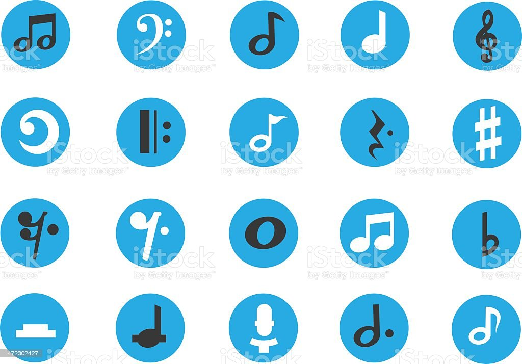 Musical Note Icons royalty-free stock vector art