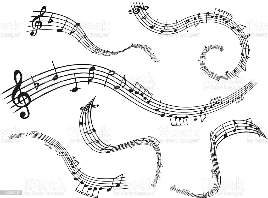 Musical Note vector art illustration