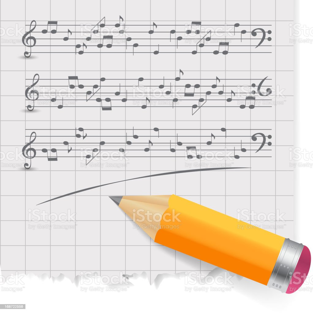 musical notes abstract background. Vector Illustration royalty-free stock vector art