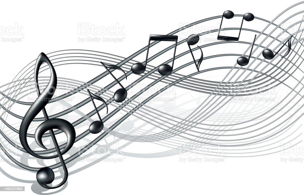 Musical notes staff background on white vector by tassel78 image - Pessoal De Notas Musicais De Fundo Em Branco Vetor E Ilustra O Royalty Free Royalty