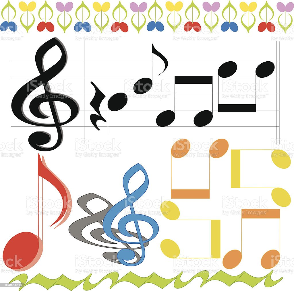 Musical notes (Vector) royalty-free stock vector art