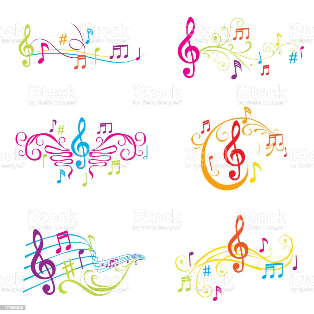 Musical Ornaments royalty-free stock vector art