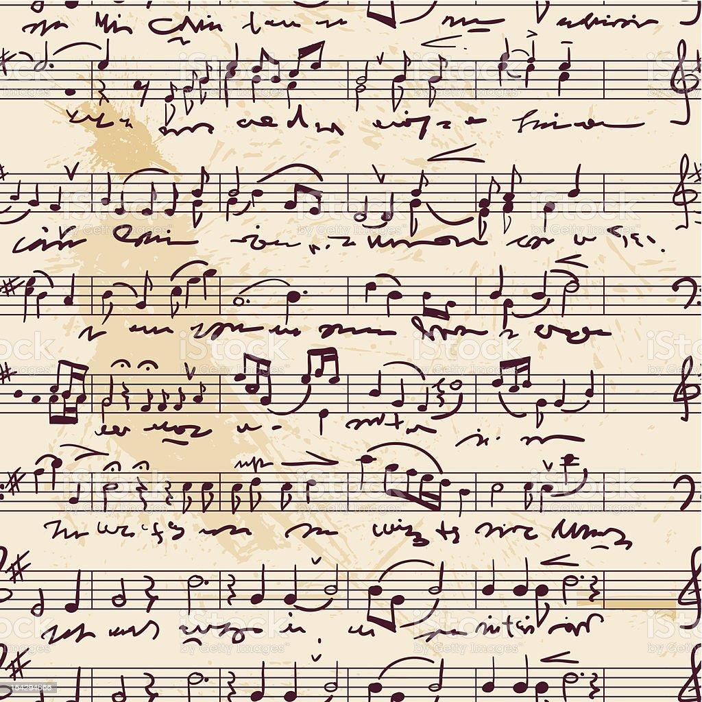 Musical score(seamless,vector) vector art illustration