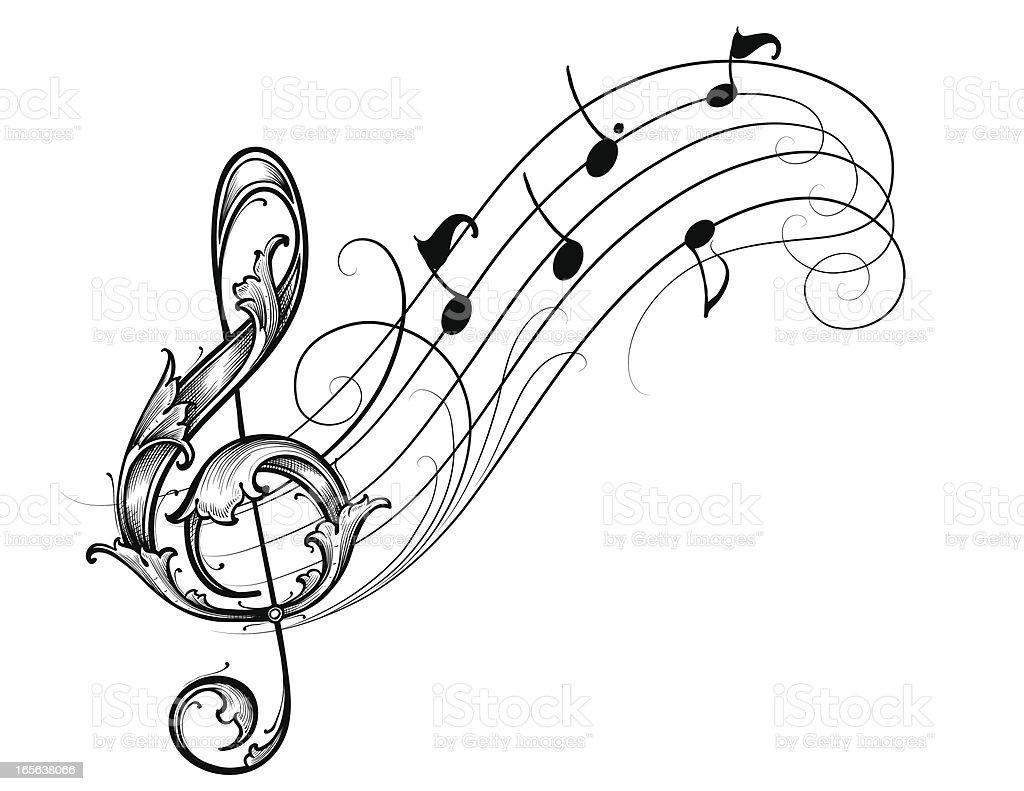musical scroll stock vector art 165638066 istock