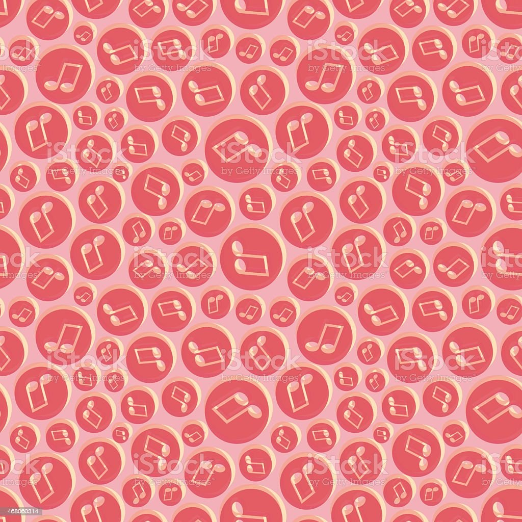 Musical seamless pattern with music notes. vector art illustration