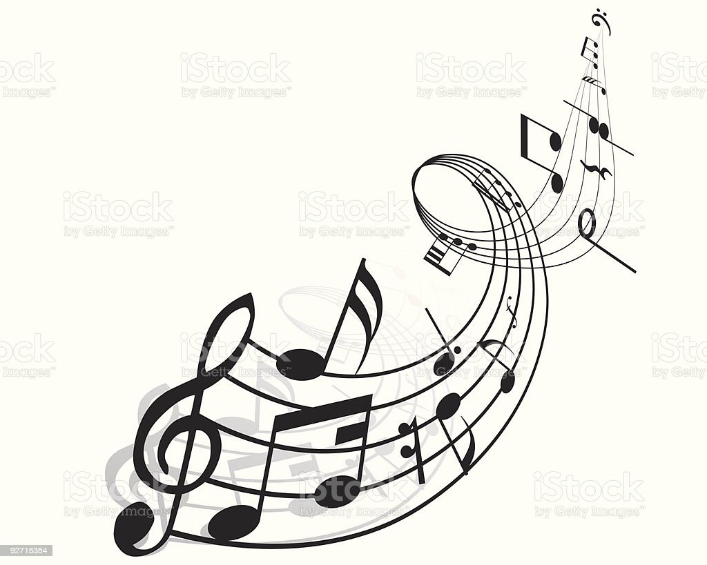 musical staff royalty-free stock vector art
