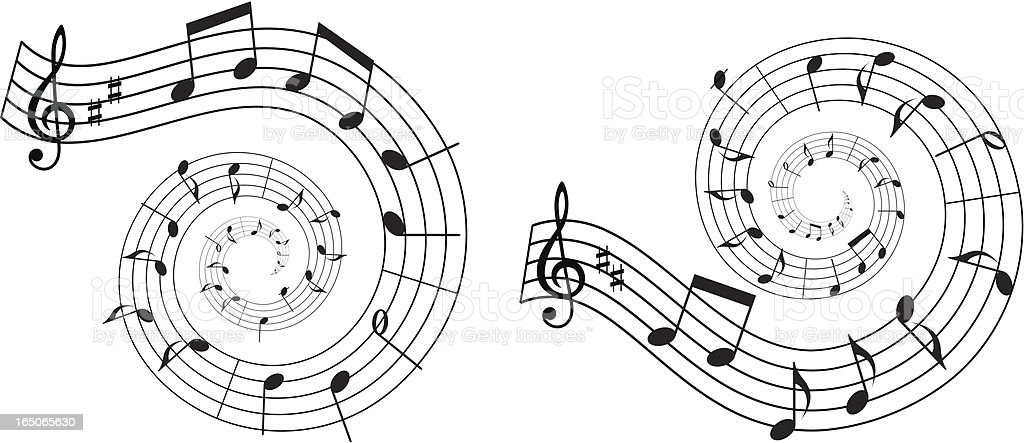 Musical swirls design elements royalty-free stock vector art