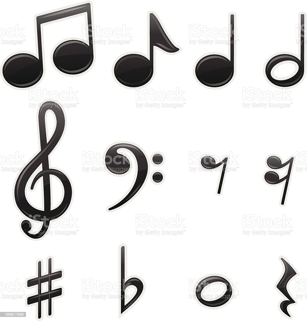 Musical Symbols vector art illustration