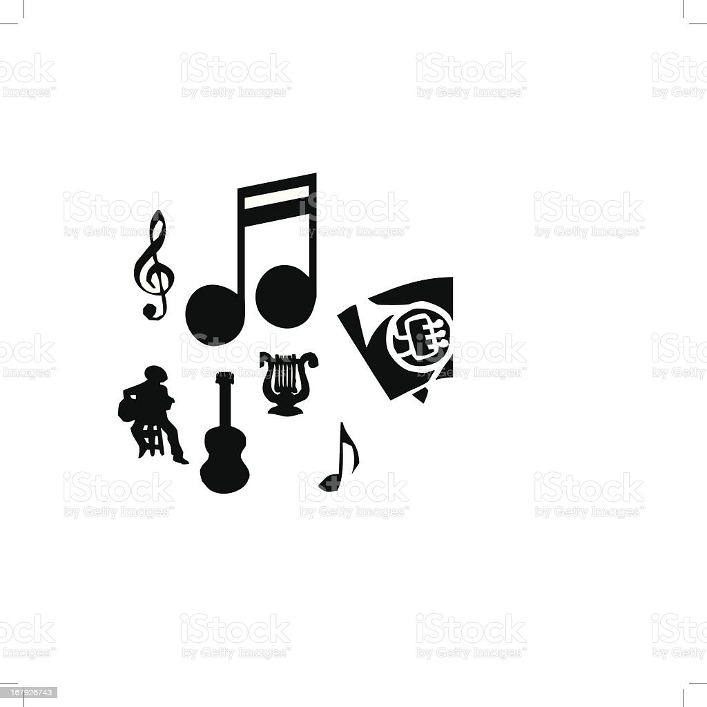 Musical Vectors royalty-free stock vector art