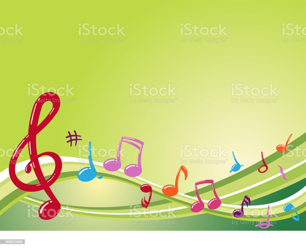 Musical Wave vector art illustration