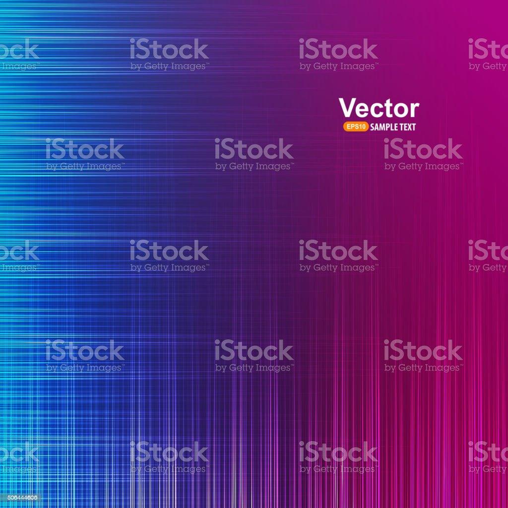Musical waves vector art illustration