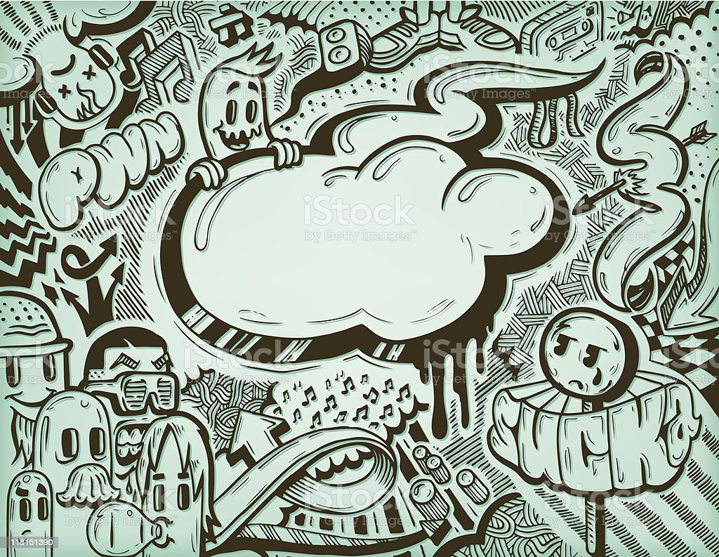 Musicfreaks! vector art illustration