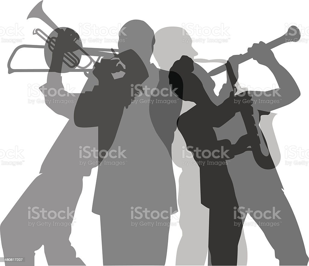 Musicians royalty-free stock vector art