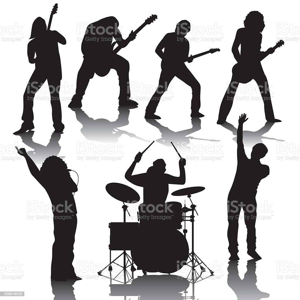 Musicians vector art illustration