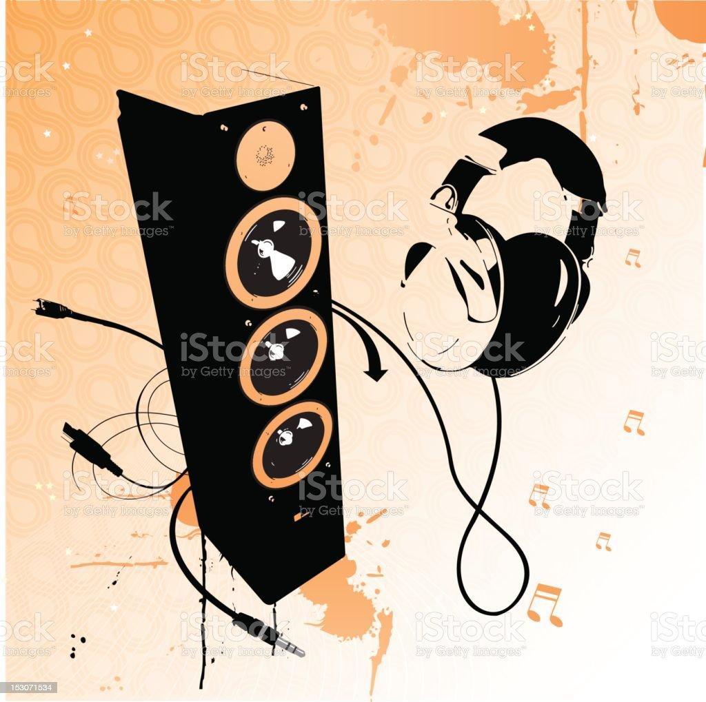 Music/Speaker - Illustration royalty-free stock vector art