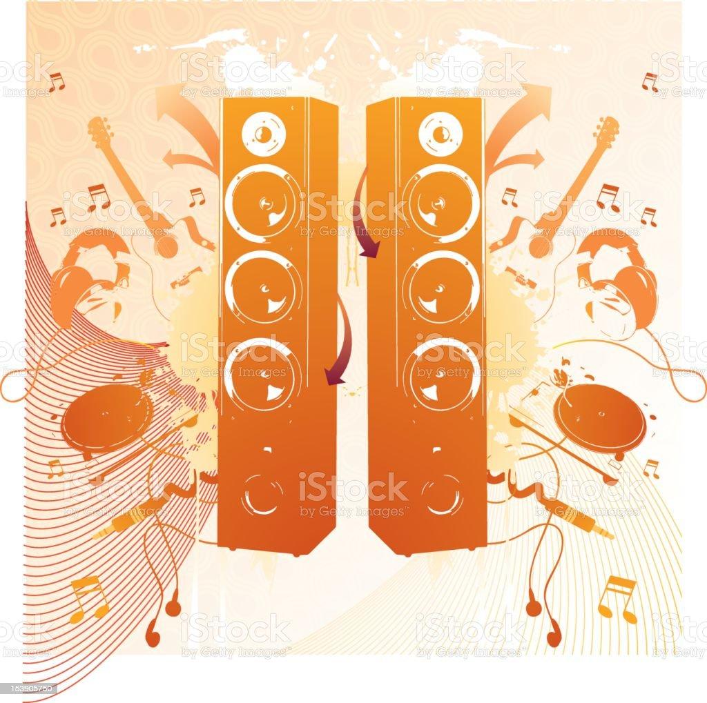 Music/Speaker - Illustration royalty-free stock photo