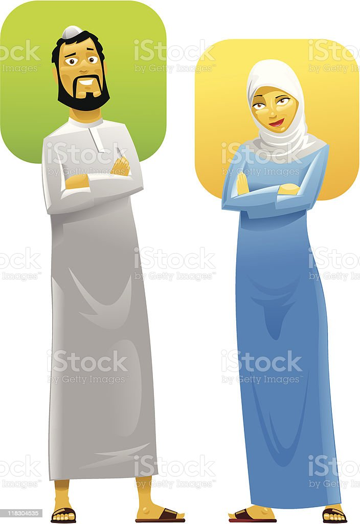 Muslim Couple 2 royalty-free stock vector art