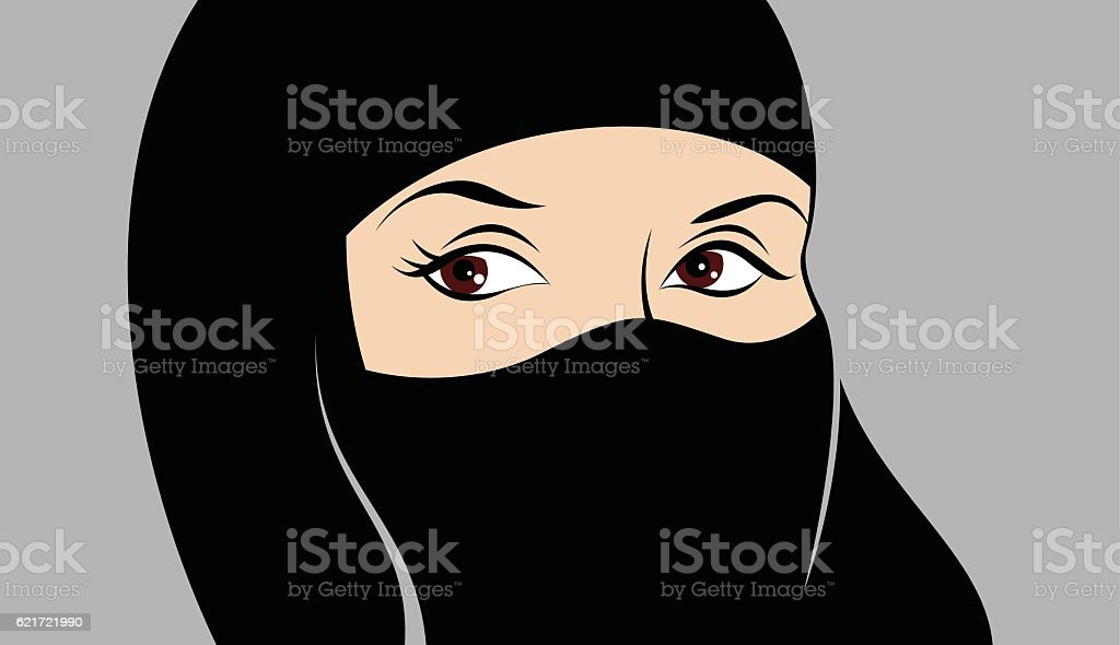 Muslim woman. vector art illustration