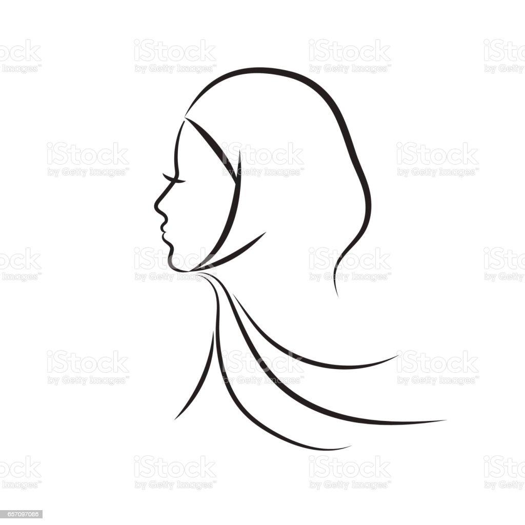 Muslim woman vector illustration vector art illustration
