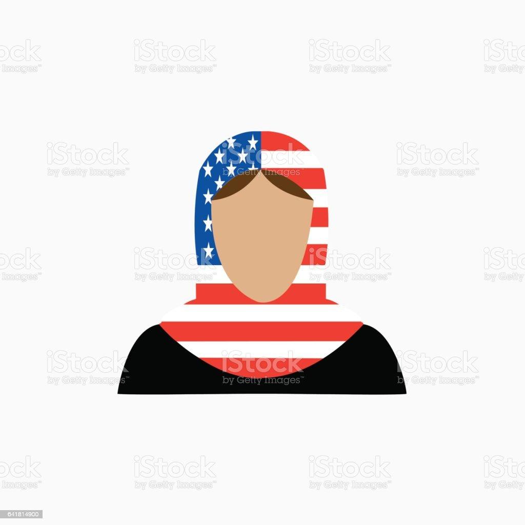 MusliminUSA vector art illustration