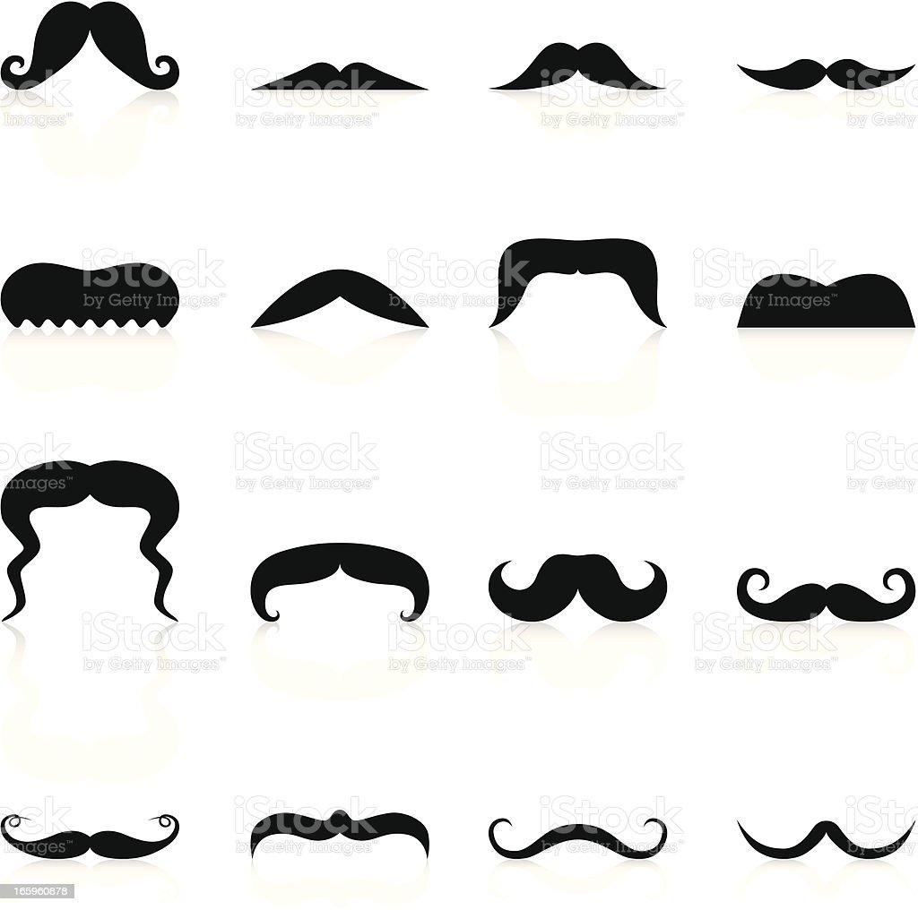 Mustache - Black Series vector art illustration