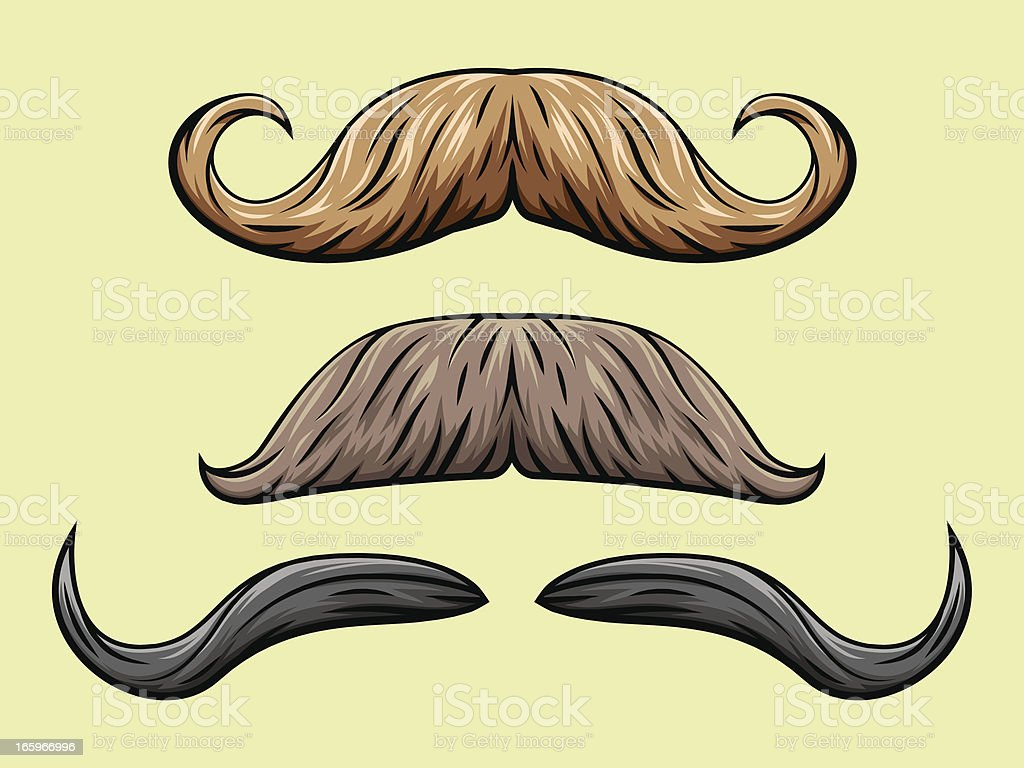 Mustache Collection 2 royalty-free stock vector art