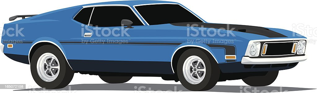 Mustang Mach1 vector art illustration
