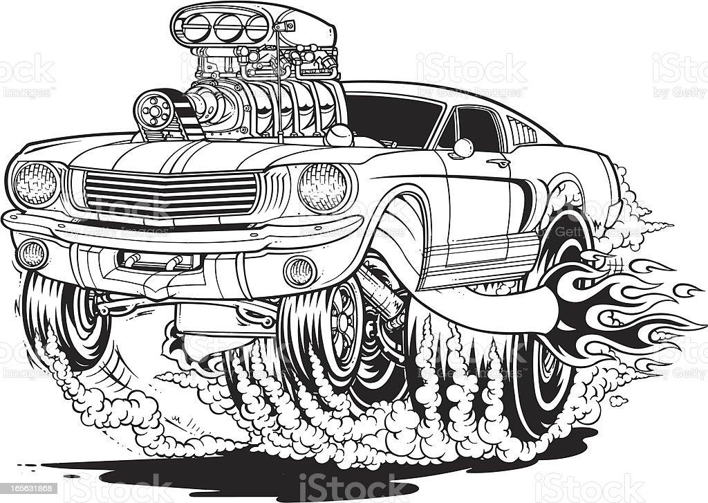 Mustang Muscle Car Stock Vector Art Istock