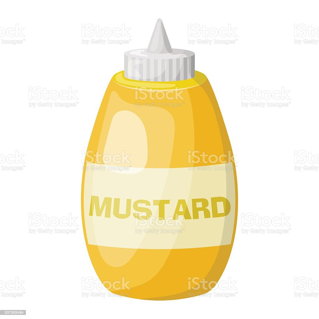 Mustard colorful icon vector art illustration