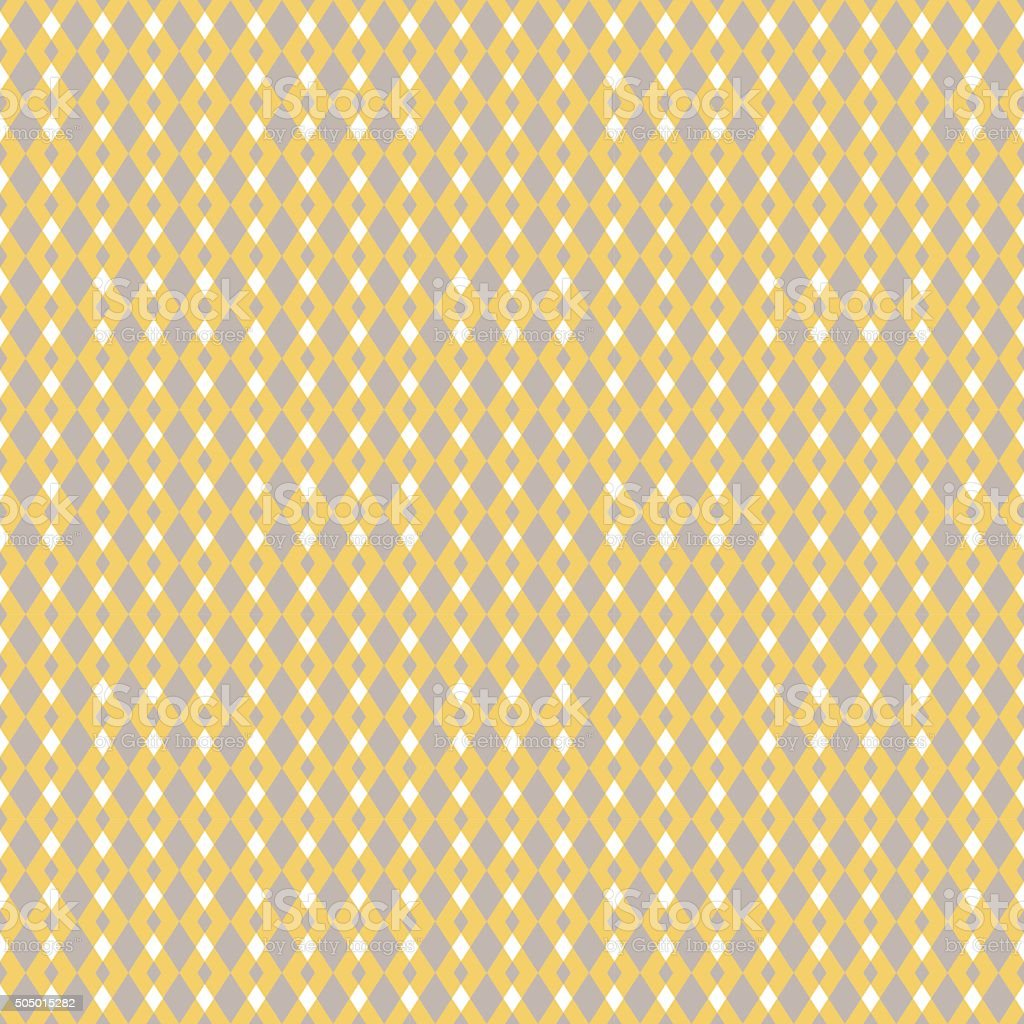 Mustard yellow and taupe vector geometric seamless pattern vector art illustration